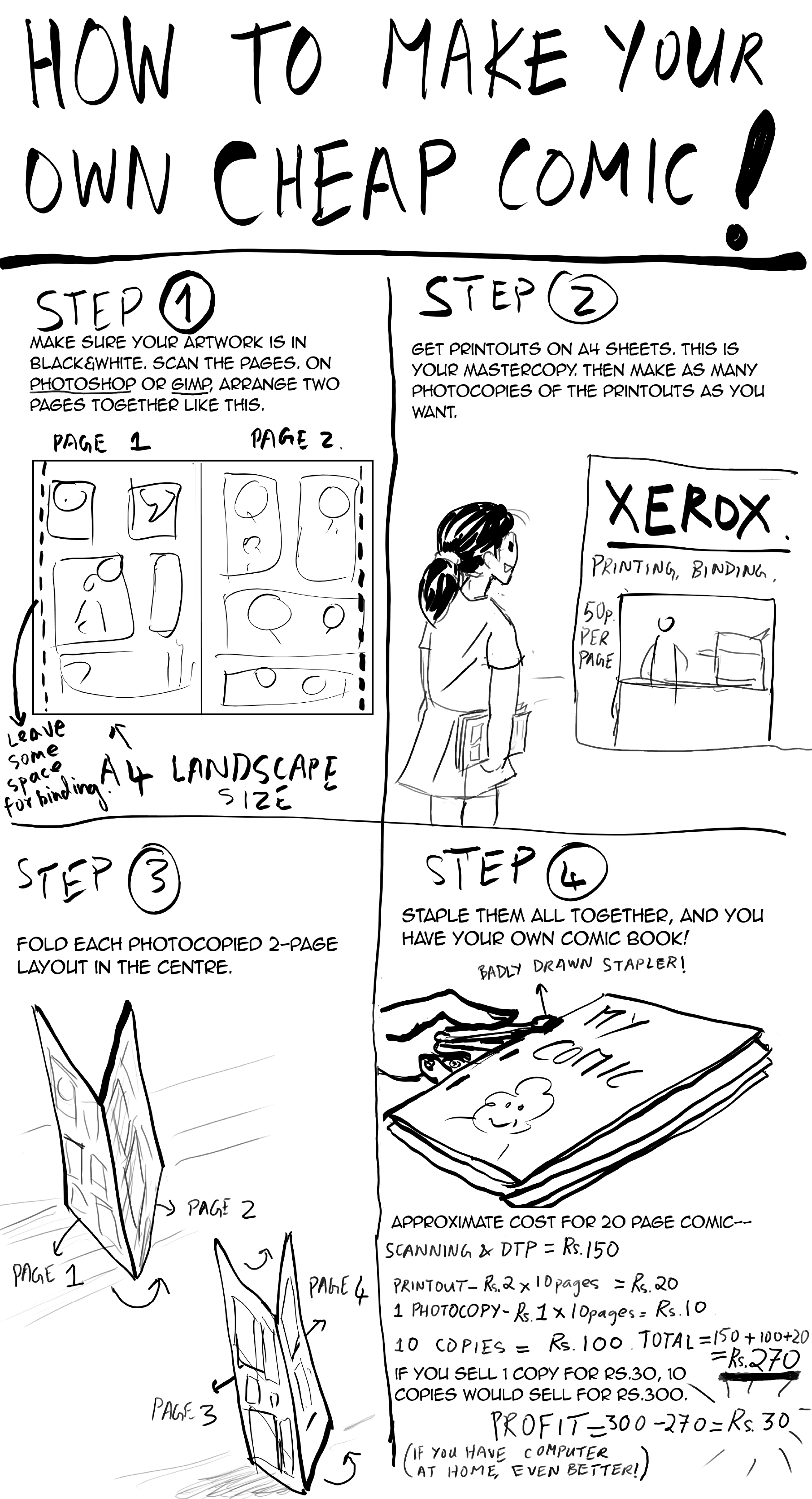 How To Make A Comic Book Cover In Photo : Make your own photocopy comic book comix india